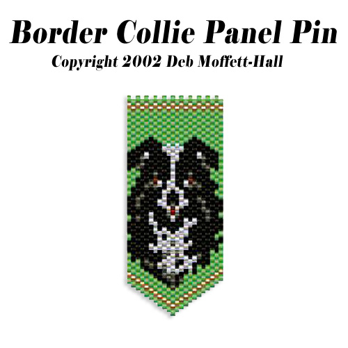 Border Collie Panel Pin