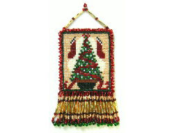 Christmas Tree & Stockings Ornament Panel