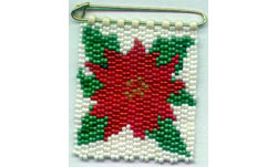Christmas Poinsettia Banner Pin