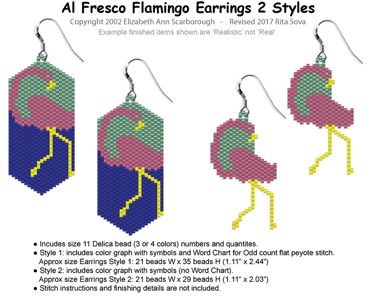 Al Fresco Flamingo Earrings 2 Styles