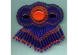 Beaded Cabochon Barrette