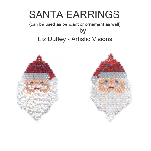 """Fuzzy"" Santa Earrings or Pendant"