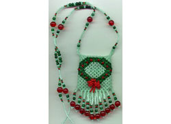 3-D Holiday Wreath Netted Pouch