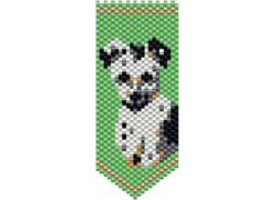 White & Black Jack Russell Panel Pin