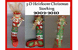 3-D Commemmorative Christmas Stocking (2002-2010)