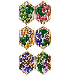 Wine Charm Peyote Panels