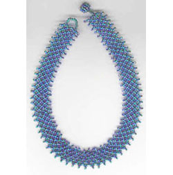 Blue & Turquoise Netted Necklace