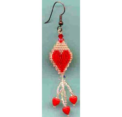 3-D Valentine Earrings