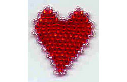Lacy-Edged Heart Pin