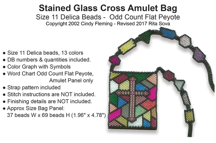Stained Glass Cross Amulet Bag