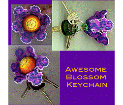 3-D Totally Awesome Blossom Keychain