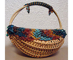 Bead-Embellished Easter Basket