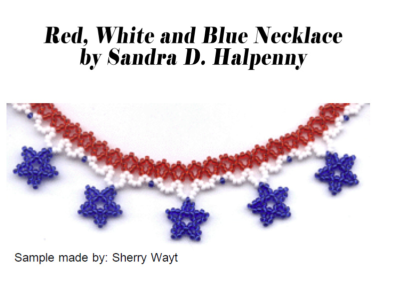 Red, White, and Blue Necklace