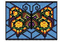 "Rose Butterfly ""stained glass"" Panel"