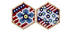 Patriotic Charms - Forget me nots