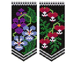 Violets and Bleeding Hearts Flower Panels