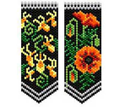 Poppies & Honeysuckle Flower Panels