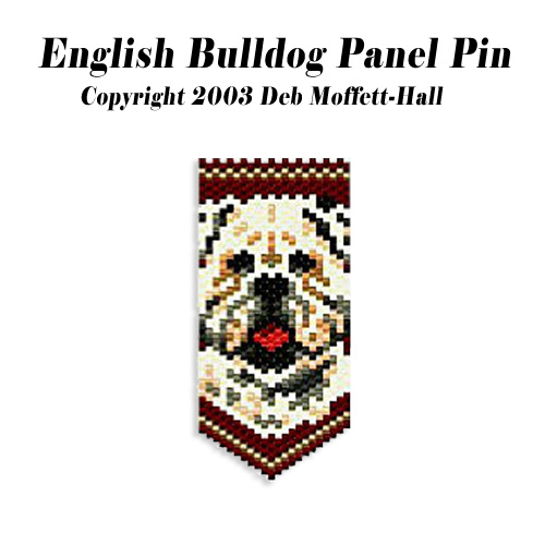 English Bulldog Panel Pin