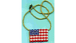 USA Flag Necklace or Pin