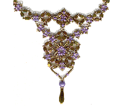Bronze/Purple Baroque Necklace