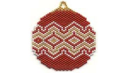RED RUG SOUTHWEST ORNAMENT / SUNCATCHER