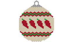 LINE O' CHILES SOUTHWEST STYLE ORNAMENT / SUNCATCHER