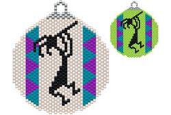 KOKOPELLI DANCE SOUTHWEST STYLE ORNAMENT / SUNCATCHER