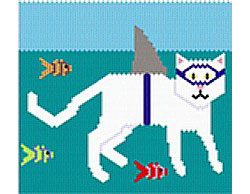 """Catshark"" with word chart"