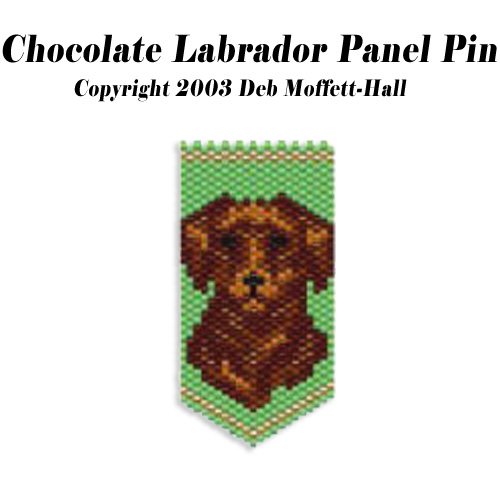 Chocolate Labrador Dog Panel Pin