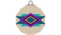 COZY BLANKET SOUTHWEST ORNAMENT / SUNCATCHER