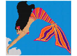 La Sirena (Mexican Mermaid) Diving Tapestry