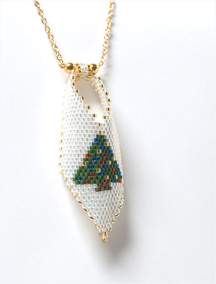 Christmas Tree Russian Leaf Pendant
