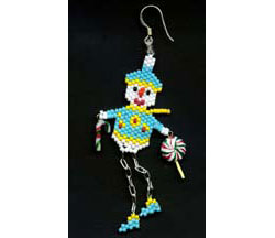 Dangley Legged Snowman Earring