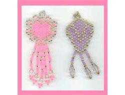 Lavender And Pink Earrings