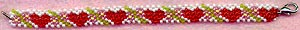 Hearts & Flowers Double-Daisy Bracelet