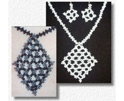 Filigree Diamond Necklace & Earrings