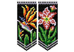 Bird of Paradise & Amaryllis Flower Panels