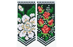 Gardenia & Tea Roses Flower Panels