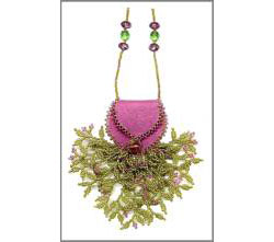 Mini Treasure Pouch - Leaf Fringe