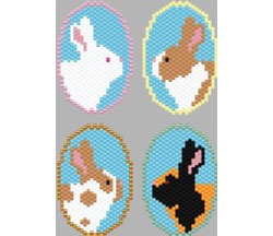 Bunny Keychains, 2nd Set