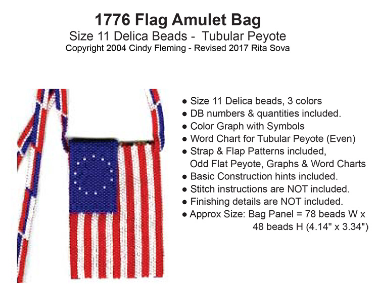 1776 Flag Amulet Bag