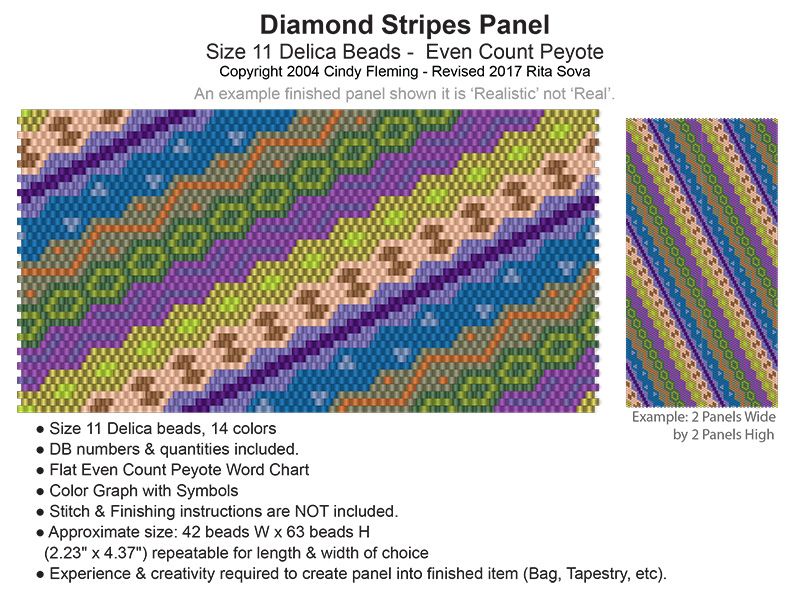 Diamond Stripes Panel