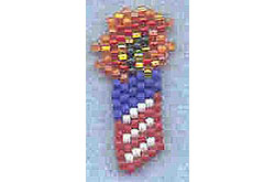 4th of July Patriotic Firecracker Pin or Earrings