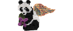 Panda Pin with or without Wings