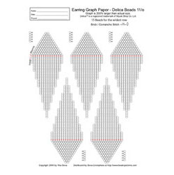 Graph Paper - Brick/Peyote/Comanche, Earring 15 Beads wide (Deli