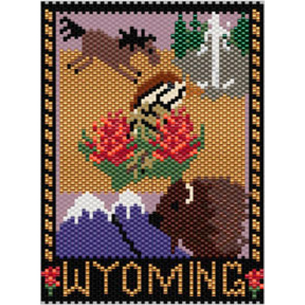 Wyoming State Amulet/Mini Tapestry
