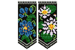 Blue Poppy & Water Lily flower panels