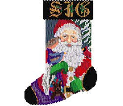 Santa and Birds Stocking