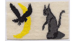 Moon, Crow, and Cat Amulet Bag #234