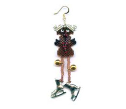 Dangley Legged Reindeer Earring